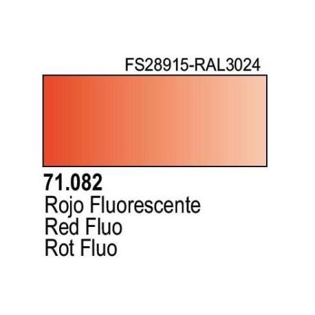 Acrilico Model Air Rojo Fluorescente. Bote 17 ml. Marca Vallejo. Ref: 71.082.