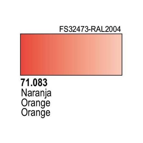 Acrilico Model Air Naranja. Bote 17 ml. Marca Vallejo. Ref: 71.083.
