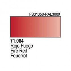 Acrilico Model Air Rojo Fuego. Bote 17 ml. Marca Vallejo. Ref: 71.084.