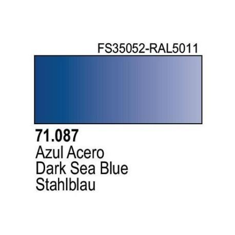 Acrilico Model Air Azul Acero. Bote 17 ml. Marca Vallejo. Ref: 71.087.