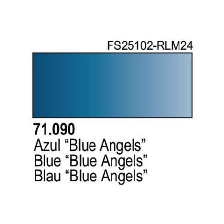 Acrilico Model Air Azul Oscuro. Bote 17 ml. Marca Vallejo. Ref: 71.090.