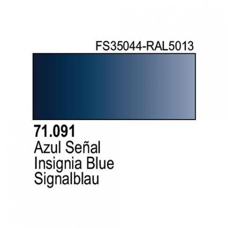 Acrilico Model Air Azul Señal. Bote 17 ml. Marca Vallejo. Ref: 71.091.