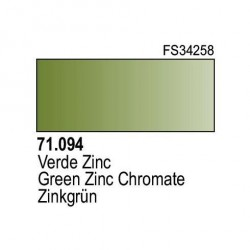 Acrilico Model Air Verde Zinc. Bote 17 ml. Marca Vallejo. Ref: 71.094.