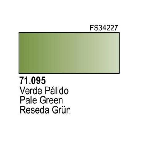 Acrilico Model Air Verde Palido. Bote 17 ml. Marca Vallejo. Ref: 71.095.