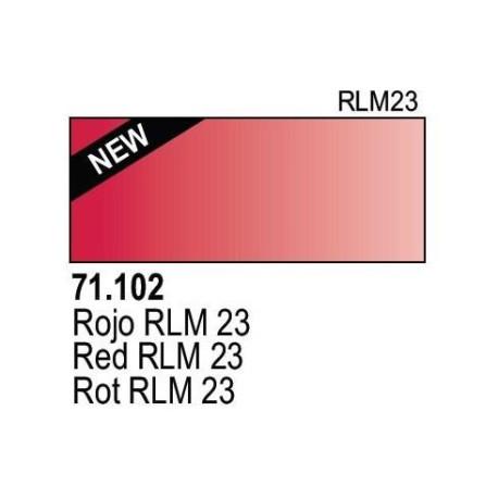 Acrilico Model Air Rojo. Bote 17 ml. Marca Vallejo. Ref: 71.102.