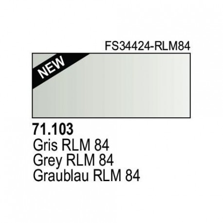 Acrilico Model Air Graublau RLM84. Bote 17 ml. Marca Vallejo. Ref: 71.103.