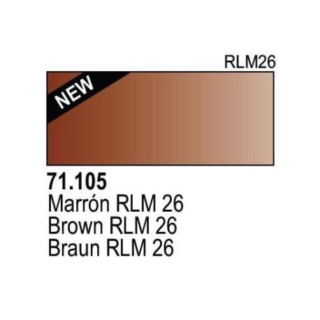 Acrilico Model Air Braun RLM26. Bote 17 ml. Marca Vallejo. Ref: 71.105.