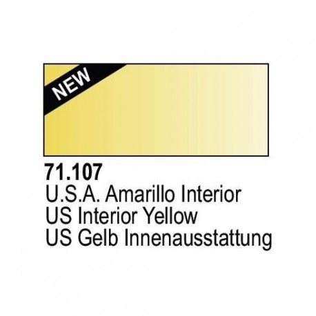 Acrilico Model Air US Amarillo Interior. Bote 17 ml. Marca Vallejo. Ref: 71.107.