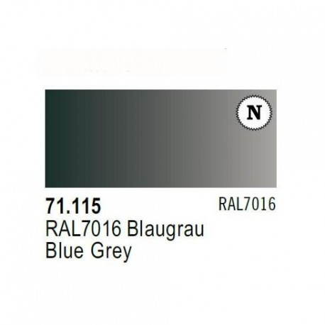 Acrilico Model Air Blaugrau RAL7016. Bote 17 ml. Marca Vallejo. Ref: 71.115.