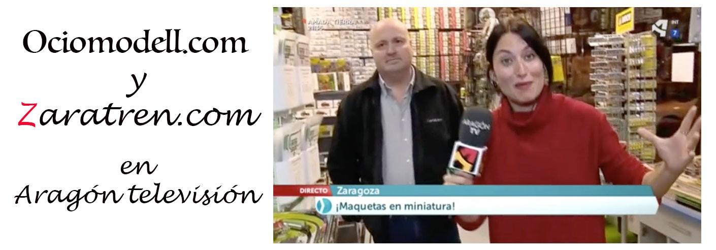 Ociomodell – Reportaje de Aragón Televisión sobre Ociomodell.com y Zaratren.com realizado el día 25 de Enero de 2018