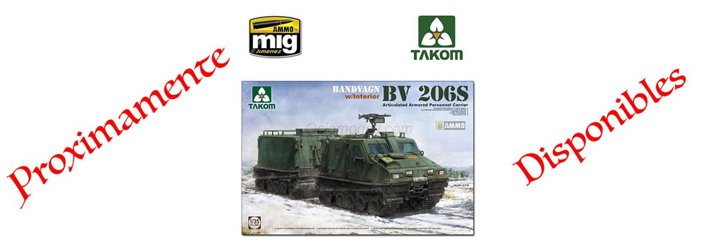 Bandvagn, Bv 206S, Articulated Armored Personnel Carrier,1/35, with interior, Ref: 2083